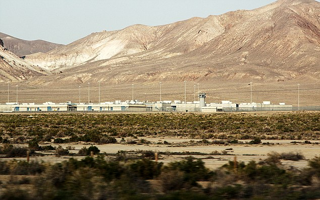 No escape:  The Lovelock Correctional facility is out in the middle of the Nevada desert and backed up against sky scraping  mountains