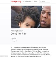 blue ivy's hair petition