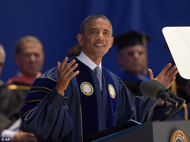 Commencement: President Obama made his remarks while giving the commencement address at University of California, Irvine