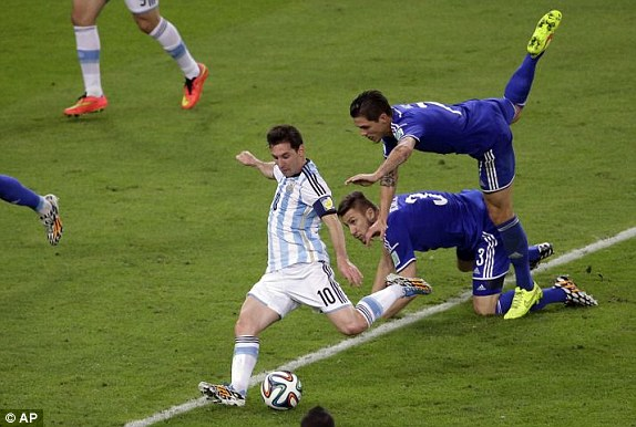 Image result for messi goal vs bosnia