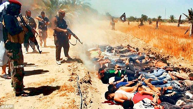 Iraq: Images of Iraqi men being rounded up at gunpoint, beaten, herded into lorries and shot dead in a ditch in the desert by a row of masked ISIS fanatics sent shockwaves across the world