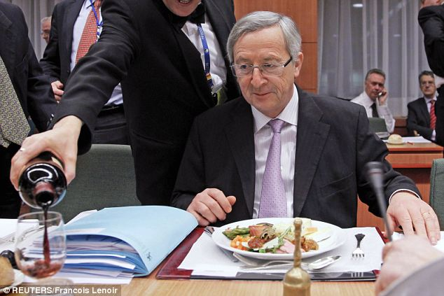 Image result for Jean-claude Juncker eating a meal