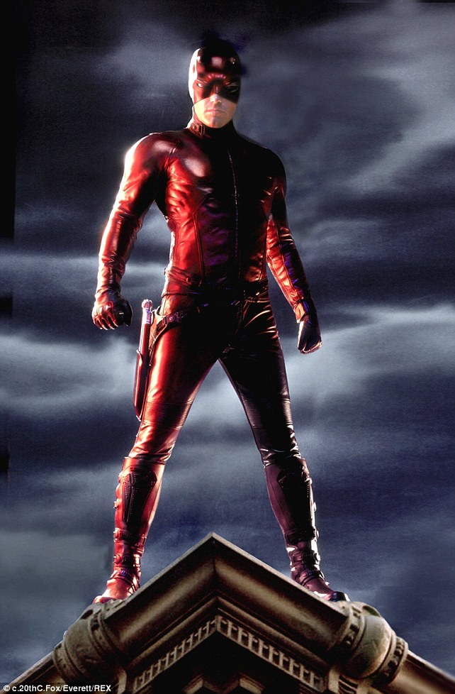 Masked hero: Ben Affleck, 41, starred as comic book superhero Daredevil in the 2003 movie