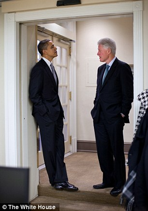Hate: Bill Clinton allegedly hates Barack Obama and this animosity stems from accusations of racism against the former president during Obama's 2008 defeat of Hillary Clinton