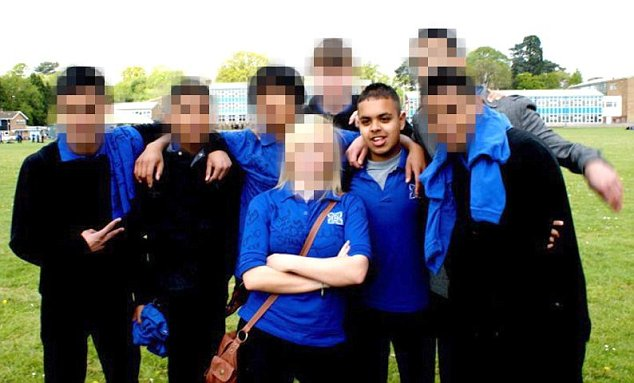 All change: Third British jihadist Reyaad Khan having fun with school friends in Cardiff before he fled to fight