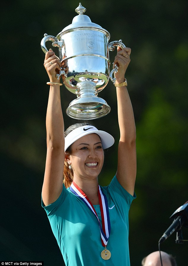 Michelle Wie Celebrates US Womens Open Victory With