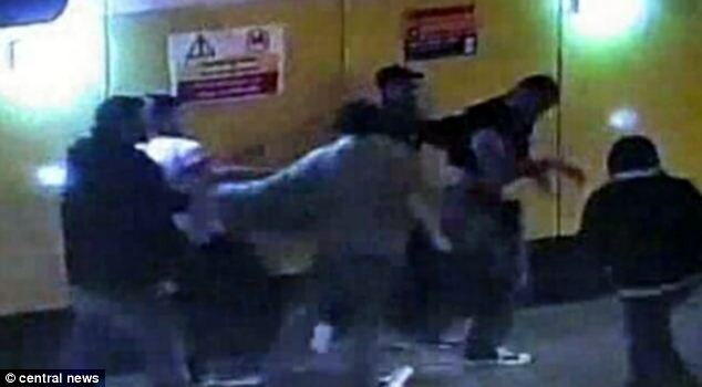 The footage shows Mr Hounye attempting to make an escape as the group continue to hit him. Four of the men have admitted GBH - one with intent - following the attack last June