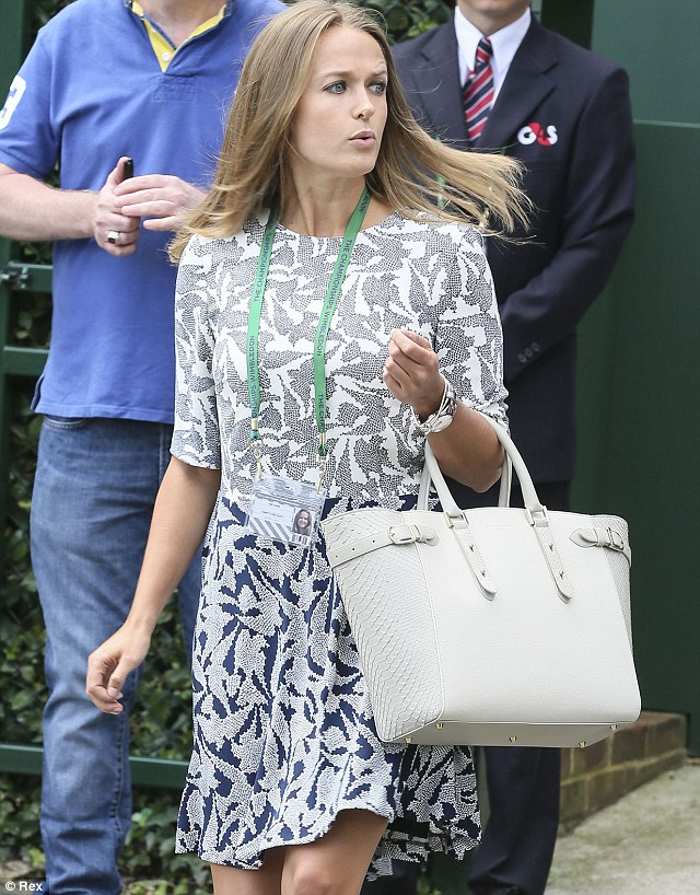 Kim returned to Wimbledon for the second time this week to offer support to boyfriend of nine years Andy Murray