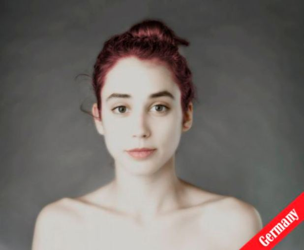 Lighten up: An artist in Germany gave Miss Honig pale skin and auburn hair