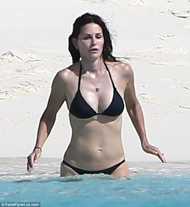A bit nippy? The dark haired beauty looked to take the water as a bit of a shock at first