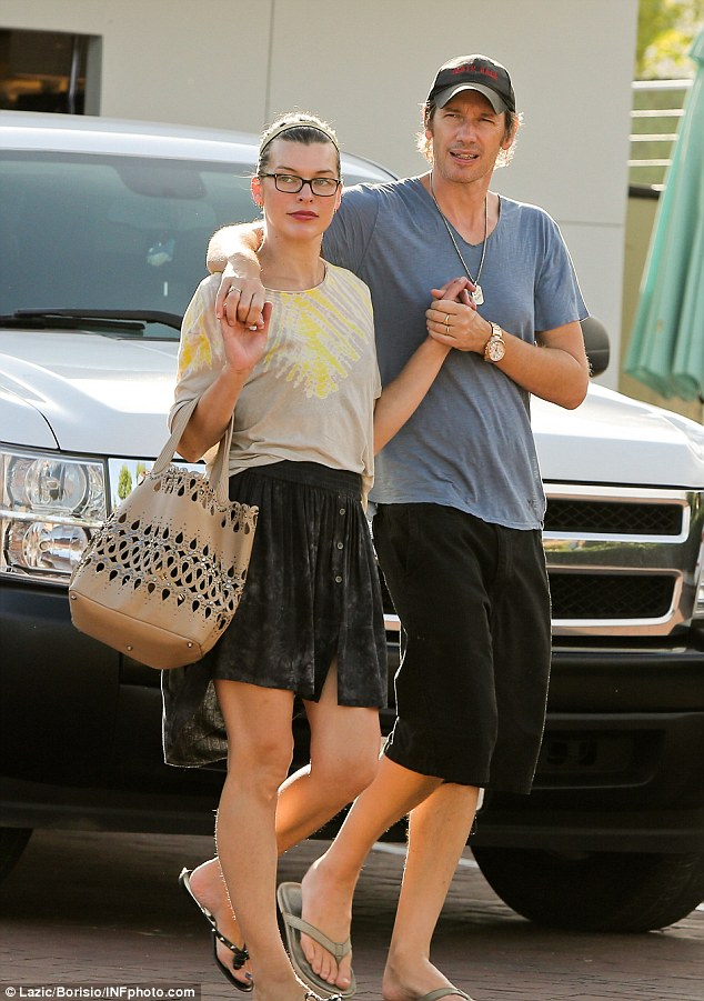 Milla Jovovich and husband Paul W S Anderson share a