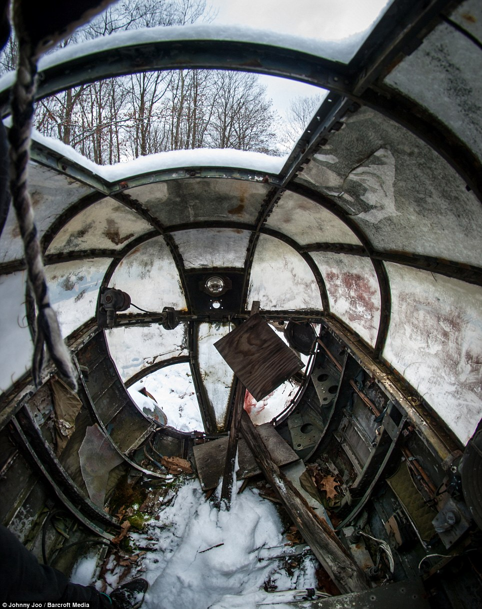 The inside of a scrapped out Canadian supply plane. The graveyard is a resting place for several serving planes from the second World War