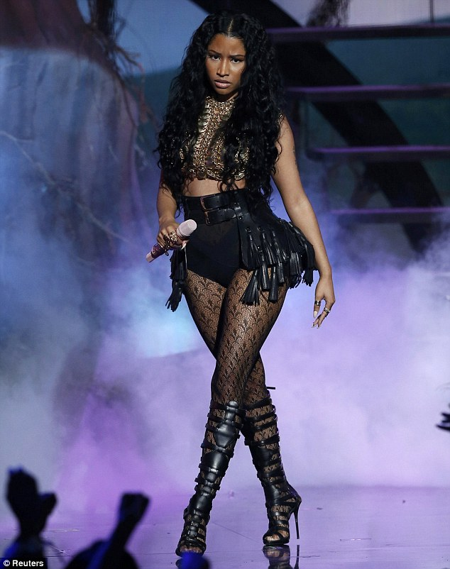 Nicki Minaj Dons Racy Outfit For Performance At BET Awards