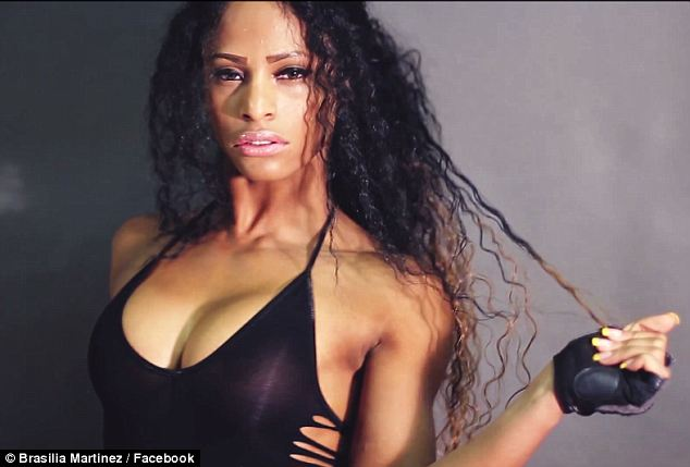 Gorgeous: Martinez was a beautiful aspiring fitness model and boxer
