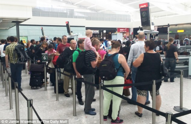 Tension: Security at British airports is being stepped up amid claims that terrorists are intent on smuggling bombs that cannot be detected by scanners