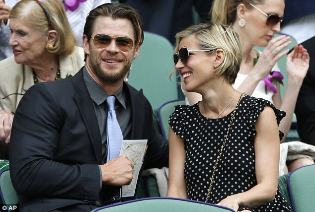 The Hammer: Chris Hemsworth aka Thor with Elsa Pataky