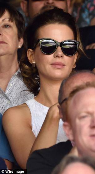 Star quality: Kate Beckinsale attends the mens singles final between Novak Djokovic and Roger Federer on centre court
