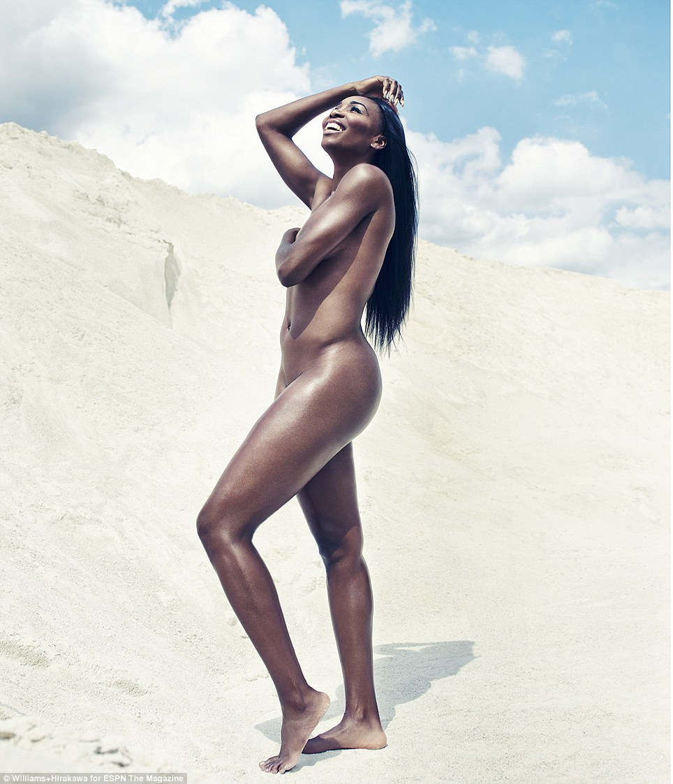 All off: Venus (pictured) follows in her sister Serena's footsteps - who appeared on the debut cover of ESPN's Body Issue in 2009 - and opens up about her struggles with Sjogren's syndrome, an autoimmune disorder that caused her to drop out of tennis for six months between 2011 and 2012
