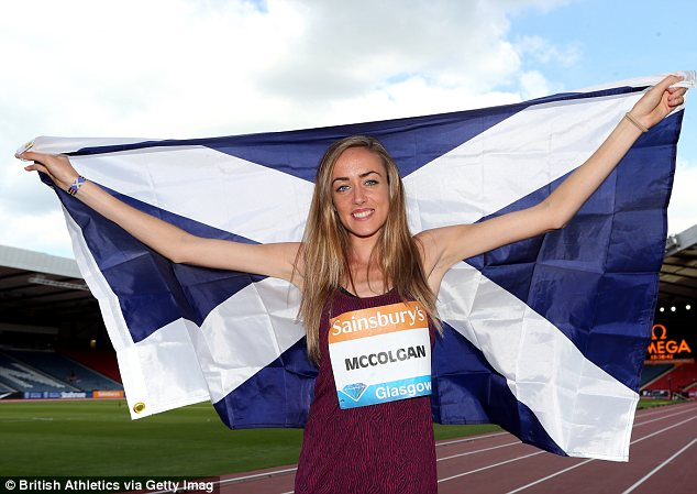 Concern: British steeplechaser Eilish McColgan has experienced heart palpitations since the age of 12
