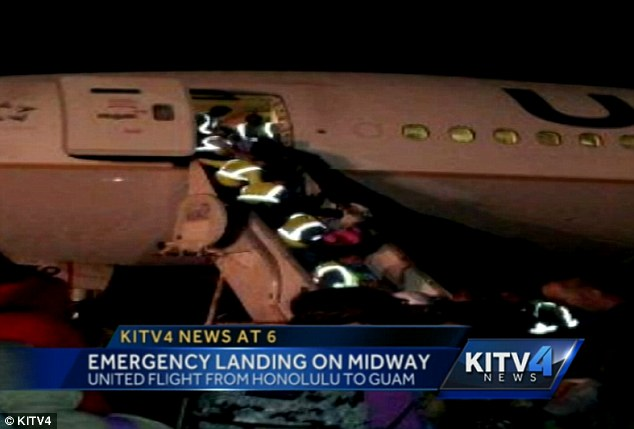 Landing: A United Airlines flight from Honolulu to Guam was diverted to Midway because of a mechanical issue