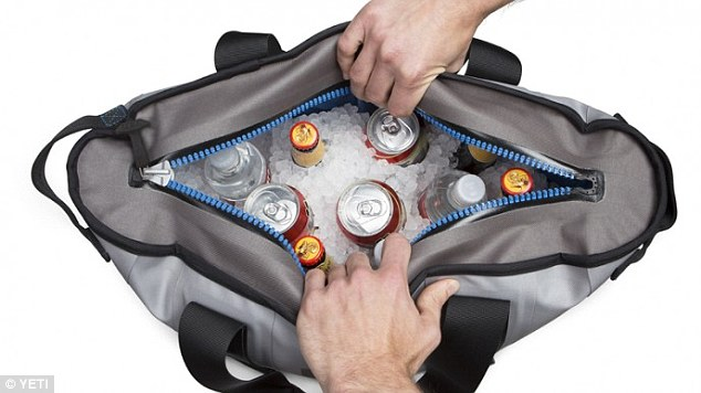 The YETI Hopper bag keeps ice frozen for days together without leaking or melting