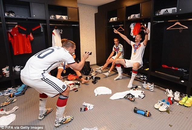 Germany celebrate World Cup victory as Angela Merkel joins