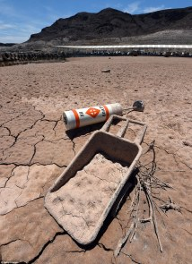 Fourteen Year Drought Leaves Lake Mead -time