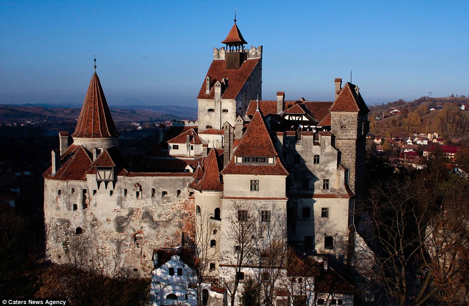 Perfectly picturesque: Whatever its links to Dracula, there is no doubting the beauty of Bran Castle