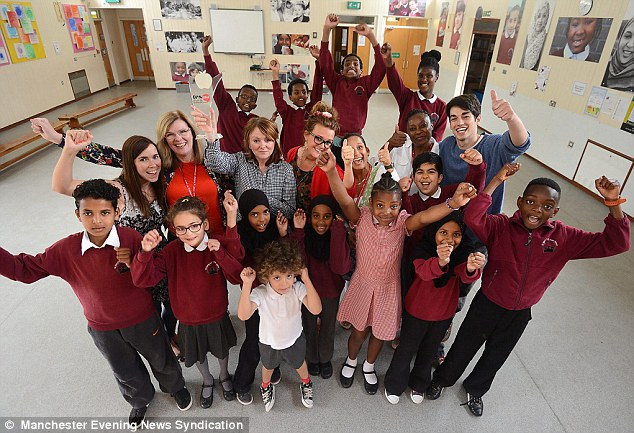 Achievers: Despite the fact that only one in five pupils speak English as their first language, St Mary's C of E Primary in Moss Side, Manchester, has been named Primary of the Year