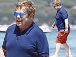 Elton John in St Tropez