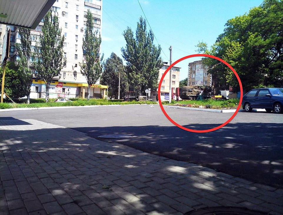 Launch site? The BUK missile system photographed in Torez hours before MH17 was downed