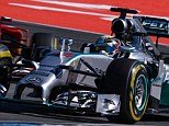 Getting the job done: Lewis Hamilton was fastest in the afternoon session as he bids to secure back-to-back wins
