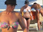 Incredible abs! Jaime Pressly showed off her impressive bikini body in two different swimsuits as she soaked up the son with her boyfriend Hamzi Hijazi at the Secrets Resort in Cabo San Lucas, Mexico on Thursday