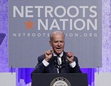 Vice President Joe Biden's speech to progressive activists attending the Netroots Nation conference in Detroit, Michigan, this evening was interrupted by immigration reform activists who were upset with the government for deporting illegal immigrants