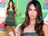 Making them green with envy! Megan Fox rocks emerald mini-dress at Nickelodeon awards show just five months after welcoming son Bodhi