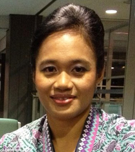 Stewardess: Azrina Yakob, pictured, was thought to have been working on the flight when it was shot down