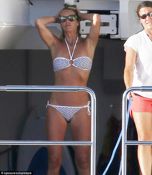 Great tan: It's not difficult to see how Elle got the nickname The Body
