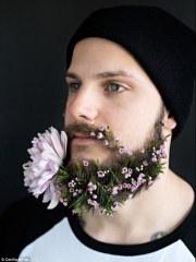 flower beard trend sees hipsters