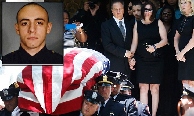 Rookie cop Melvin Santiago, 23, died Sunday after being ambushed by Lawrence Campbell, 27, in a Jersey City, New Jersey Walgreens