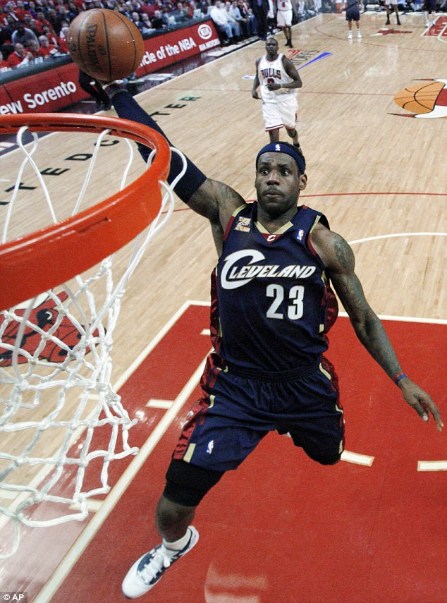 Mr Popular: A new poll ranks LeBron James as America's favorite professional athlete. Pictured above in 2010, during his original run with the Cleveland Cavaliers. He recently announced he would be returning to the Cavs after winning two championships with the Miami Heat