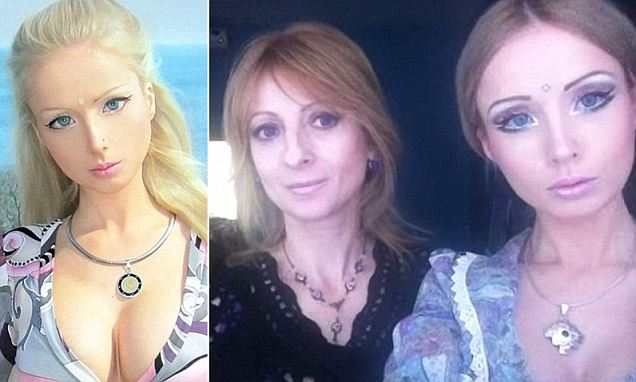 ¿Human Barbie¿ Valeria Lukyanova may claim to be from 'another planet,' but her mother, at least, appears to be mortal