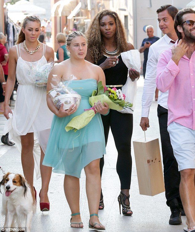 Treat yourself! The star was seen with a white bag of goodies to-go