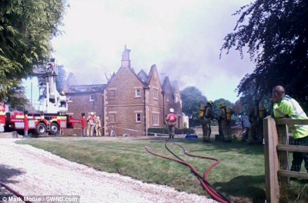 The second home in Gloucestershire to suffer serious damage was in Ampney Crucis, when a bolt of lightning destroyed the roof and then a fire gutted the upper floors