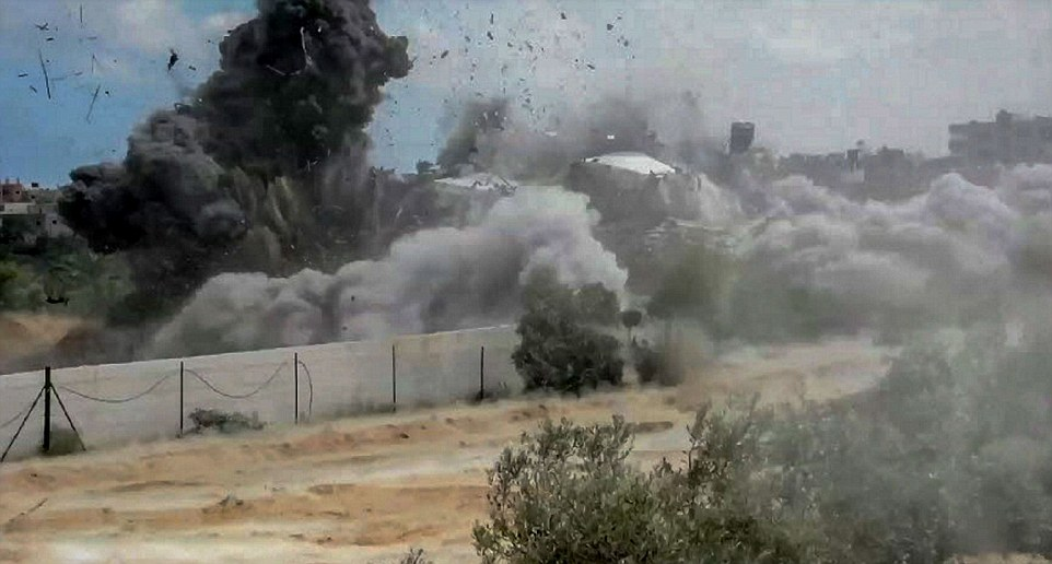 Mandatory Credit: Photo by IDF Spokesman/REX (3960586g)<br /><br /><br /><br />  IDF forces looking/uncovering and blowing up terrorist tunnels in the Gaza Strip<br /><br /><br /><br />  Israel - Gaza conflict, Gaza, Palestinian Territories - 20 Jul 2014