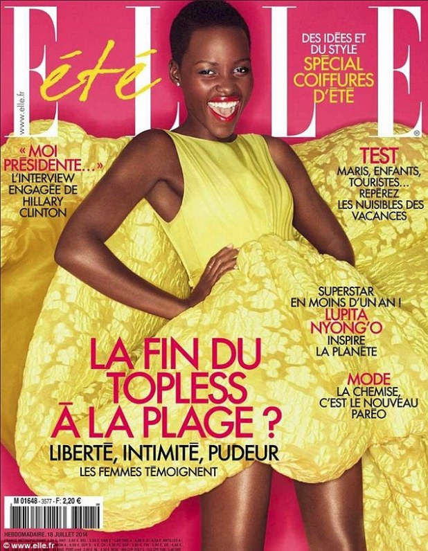No doubt: ELLE France has labeled Lupita Nyong'o a 'superstar' as she graces the cover of the fashion magazine's July issue