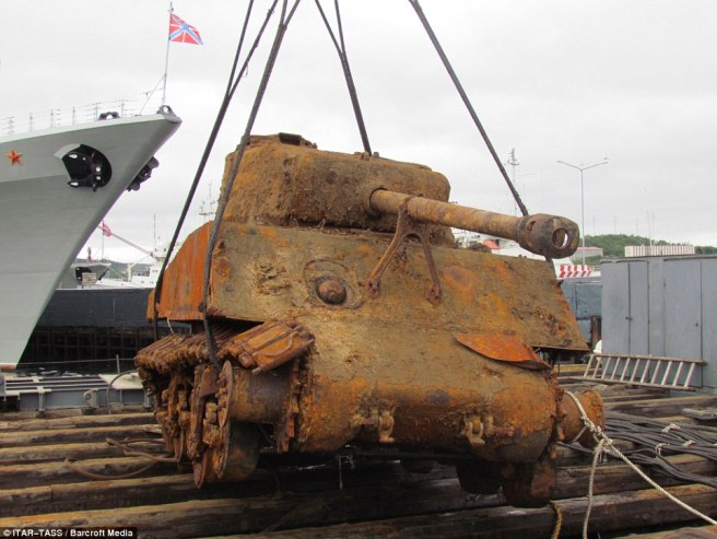 The Sherman was part of a cargo of 7679 tons, which also included 6000 tons of ammunition, foodstuffs and other vehicles which was sent to the bottom of the Barents sea after the Thomas Donaldson was attacked by a U-Boat