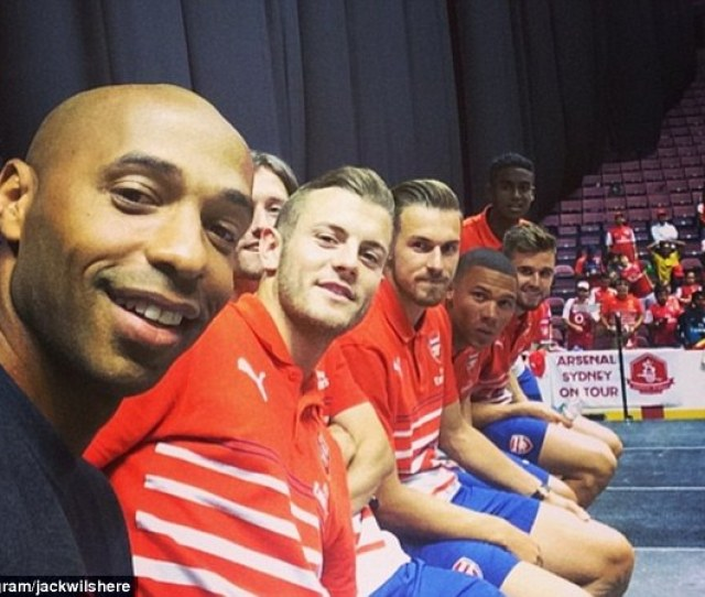 Benched Thierry Henry With Wilshere Rosicky Ramsey Gibbs Jenkinson And Zelalem