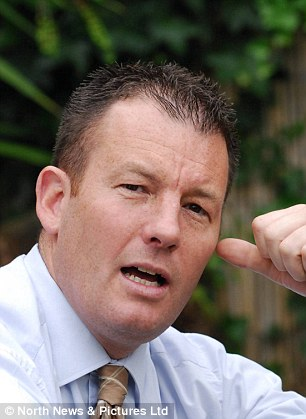 Adam Walker, pictured, the new leader of the BNP, who is set to visit the Yasukuni Shrine in Tokyo