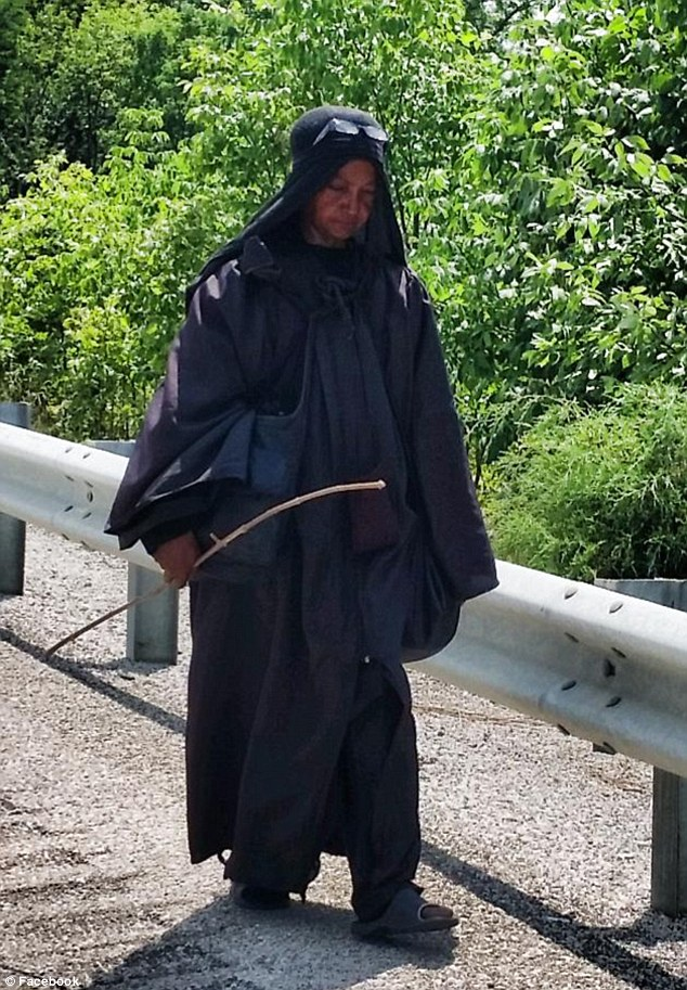Curious: The mysterious woman walks alone down US highways and keeps to herself
