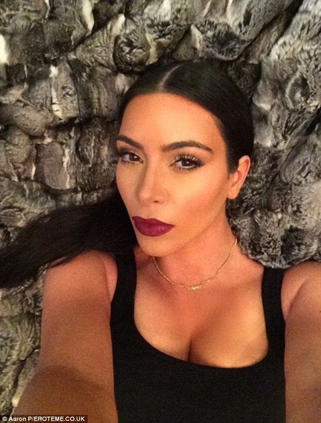 Mirror mirror on the wall: Kim is famous for taking multiple selfies, which she shares with her fans on social media